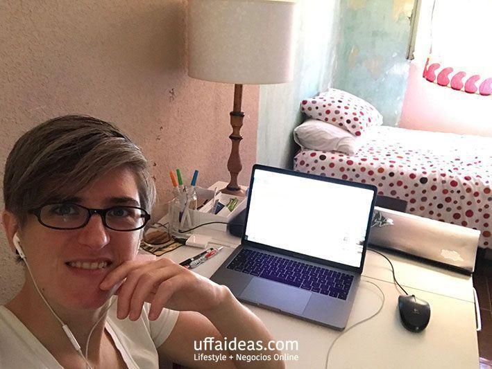 Oficina Madrid trabajando en mi blog